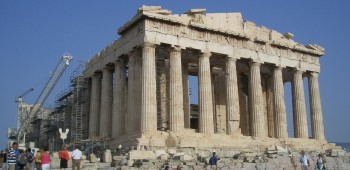 Foto des Parthenon in Athen im September 2005